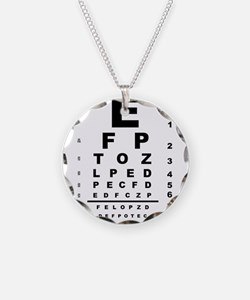 Eye Test Chart Necklace