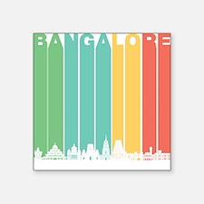 Retro Bangalore India Skyline Sticker