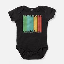 Retro Bangalore India Skyline Baby Bodysuit