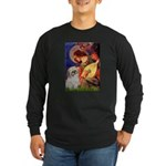 Angel3/Shih Tzu (P) Long Sleeve Dark T-Shirt