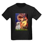 Angel3/Shih Tzu (P) Kids Dark T-Shirt