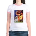 Angel3/Shih Tzu (P) Jr. Ringer T-Shirt