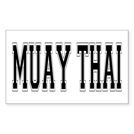 Muay Thai Rectangle Sticker