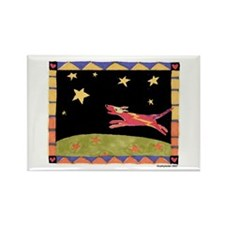 Star Dog Rectangle Magnet