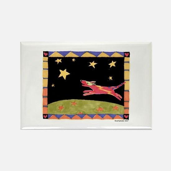Star Dog Rectangle Magnet (10 pack)