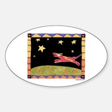 Star Dog Oval Decal
