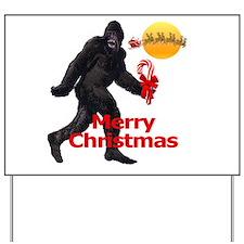 Bigfoot believes in Santa Claus Yard Sign