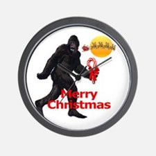 Bigfoot believes in Santa Claus Wall Clock