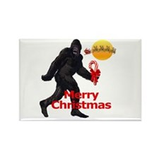 Bigfoot believes in Santa Claus Rectangle Magnet (
