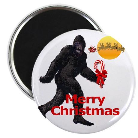 Bigfoot believes in Santa Claus Magnet
