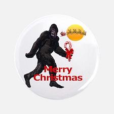 "Bigfoot believes in Santa Claus 3.5"" Button (100 p"