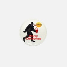 Bigfoot believes in Santa Claus Mini Button (10 pa
