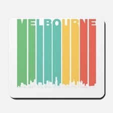 Retro Melbourne Australia Skyline Mousepad