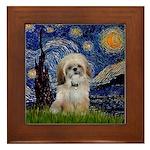 Starry / Shih Tzu (p) Framed Tile