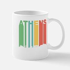 Retro Athens Greece Skyline Mugs