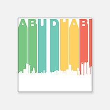 Retro Abu Dhabi Skyline Sticker