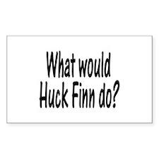 Huck Finn Rectangle Decal