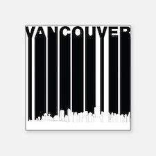 Retro Vancouver Canada Skyline Sticker
