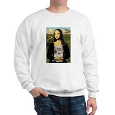 Mona Lisa/Shih Tzu (P) Sweatshirt