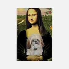 Mona Lisa/Shih Tzu (P) Rectangle Magnet