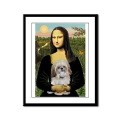 Mona Lisa/Shih Tzu (P) Framed Panel Print