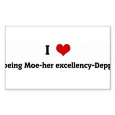 I Love being Moe-her excellen Sticker (Rectangular