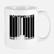 Retro Montpellier France Skyline Mugs