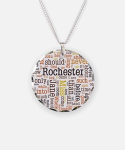Jane Eyre Word Cloud Necklace