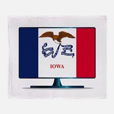 Iowa Flag TV Throw Blanket