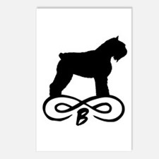 Bouvier Dog Infinity Postcards (Package of 8)