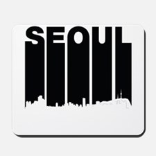 Retro Seoul South Korea Skyline Mousepad