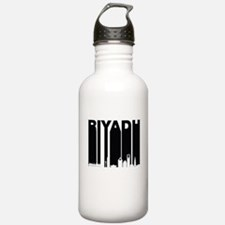 Retro Riyadh Saudi Arabia Skyline Water Bottle