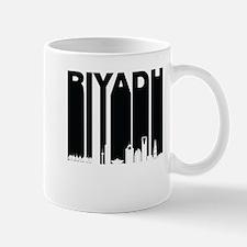 Retro Riyadh Saudi Arabia Skyline Mugs