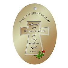 In Loving Memory of Mom Oval Ornament