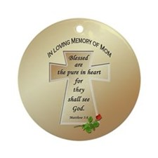 In Loving Memory of Mom Ornament (Round)