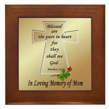 In Loving Memory of Mom Framed Tile