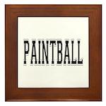 Paintball Framed Tile