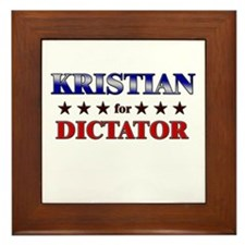 KRISTIAN for dictator Framed Tile
