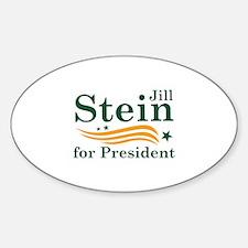 Jill Stein For President Sticker (Oval)