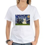 Starry /Scotty pair Women's V-Neck T-Shirt