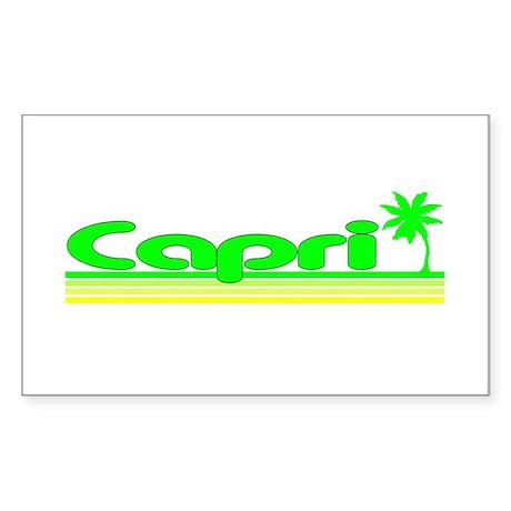 Capri, Italy Rectangle Sticker