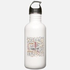 Oliver Twist Word Cloud Water Bottle