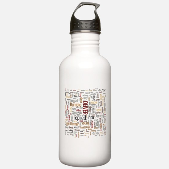 Oliver Twist Word Cloud Water Bottle