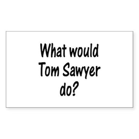 Tom Sawyer Rectangle Sticker