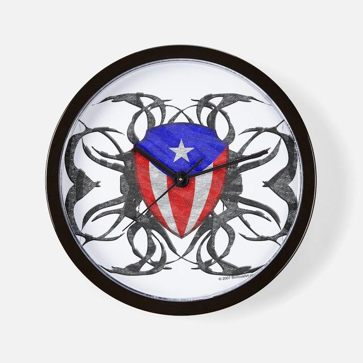 Puerto Rico Tribal Wall Clock