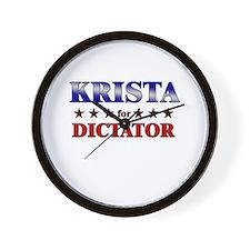 KRISTA for dictator Wall Clock