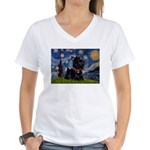 Starry / Scotty(bl) Women's V-Neck T-Shirt