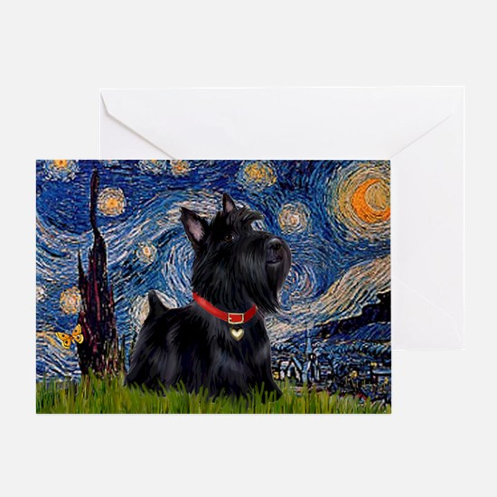 Starry / Scotty(bl) Greeting Card