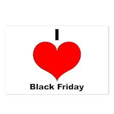I Love Black Friday Postcards (Package of 8)