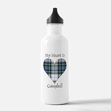 Heart-Campbell dress Sports Water Bottle